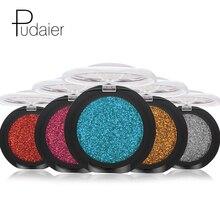 Pudaier Glitter Eyeshadow Palette Yeux Sombra Makeup Metallic Festival Lidschatten Powder Shimmer Maquiagem Blue Eye Cosmetics