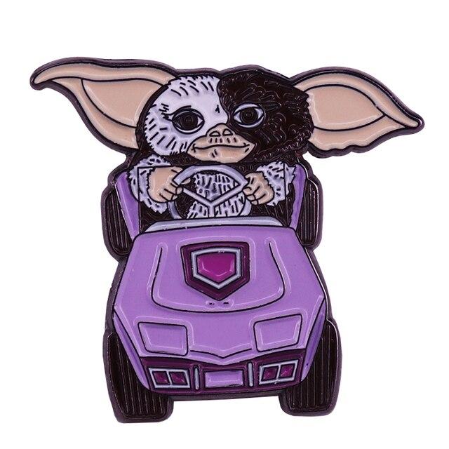 Gremlins rétro 80s Gizmo conduite émail broche drôle cadeau de noël