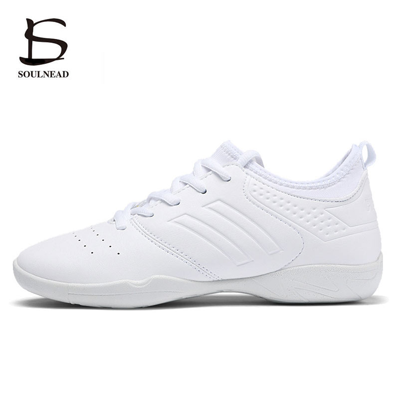 New Women Aerobics Competitive Shoes Soft Bottom Girls Modern/Jazz/Hip-hop Dance Shoes White Woman's Fitness Gym Shoes Sneakers