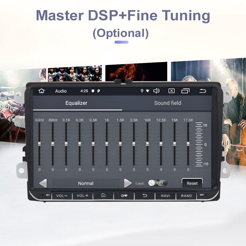 Funrover Android 9.0 DSP 2 din Car dvd gps Radio video per Volkswagen Passat CC Polo golf5 6 Touran EOS t5 Sharan Tiguan RDS BT - 3