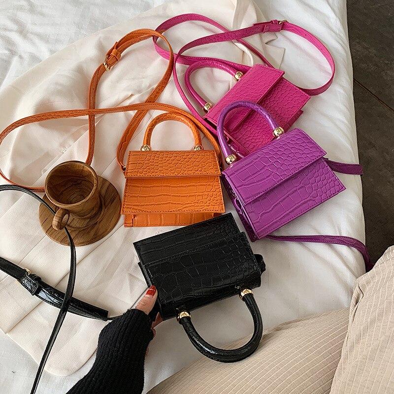Crocodile-Handbag Small-Bag Evening-Bag Shoulder-Strap Designer Women's Main Sac A PU