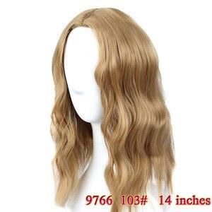 Image 4 - MUMUPI קצר קרלי מלא פאות wih פוני רך גלי שיער סינטטי טבעי שחור פאת שיער נשי פאת שיער יומי פאות