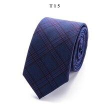 Fashion Men's Colourful Tie Cotton Formal Ties Necktie Narrow 6 cm Slim Skinny Cravate Thick Neckties Wedding Party