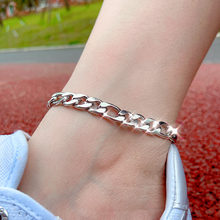 Cender Silver Color Stainless Steel Punk Anklet Chains Female Simple Anklets for Women 2020 Fashion Summer Beach Foot Jewelry small round beads silver beach anklets pendant anklets for women beads indian simple anklets fashion allergy female jewelry