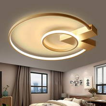 Modern LED Ceiling Light Gold&White Chandeliers Ceiling Lamp LED Light Fixtures Living room Bedroom Dining room Kitchen Lustres gold led dressing room pendant lamp with acryl shade bedroom dining room pendant light chinese style e27 lustres e pendentes