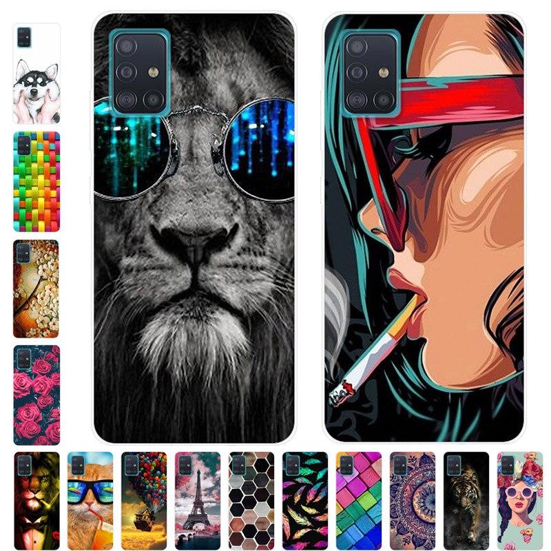 For Samsung A51 Case Phone Cover Soft Silicone Back Case For Samsung Galaxy A51 Case A71 M11 M21 A515F A 51 71 Cover Bumper TPU