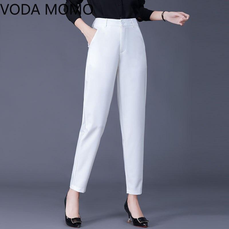 white black 2020 autumn OL office women's pants female high waist harem pants capris for women trousers woman Plus size