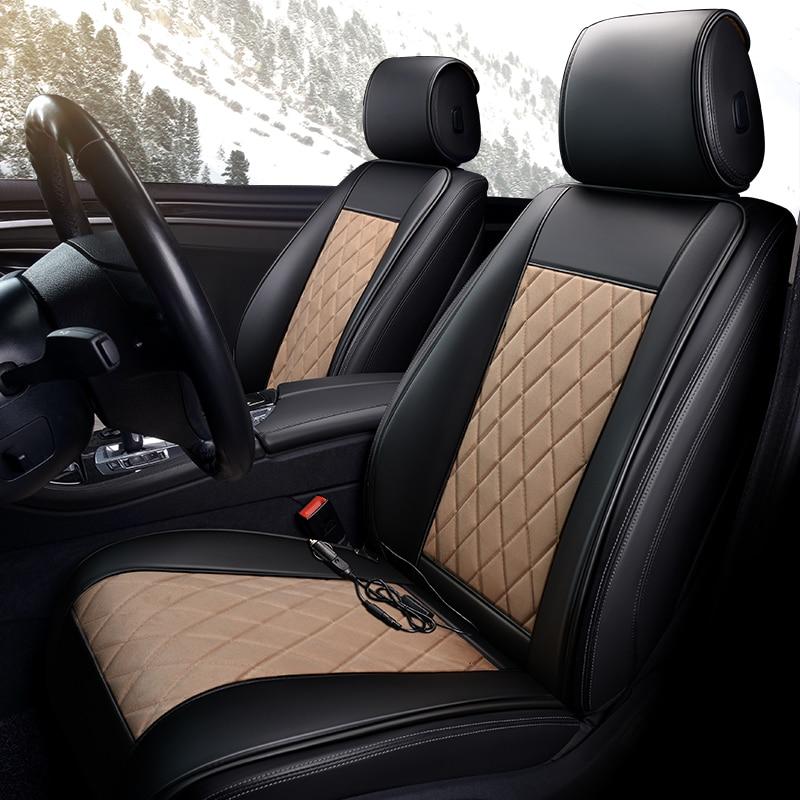 Housse de siège auto à coussin chauffant | Pour Mercedes Benz GLA X156 GLK 350 X204 GLC classe 300 M Ml320 Ml 350 W163 W164 W166 GLE