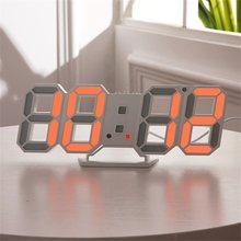 3d led digital relógio de mesa despertador snooze quarto pendurado relógio de parede 12/24 horas calendário termômetro decoração da sua casa despertador