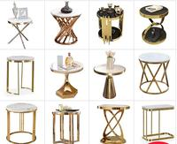 Creative Nordic Golden Iron Metal Coffee Table Dirty Storage Basket Tea Fruit Snack Service Plate Tray Bed Living Room Sofa Side
