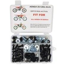 Fit für HONDA CR80 CR85 CR125 CR250 CR500 KOMPLETTE KUNSTSTOFF KÖRPER BOLT KIT 80 85 125 250 450 480 500 dirt Bike Schrauben Kit