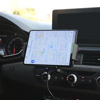 Auto pinza 15W Qi coche cargador inalámbrico para Xiaomi Samsung Galaxy doble Fold2 Nota 10 S10 iPhone XR Max Huawei Mate X titular del teléfono