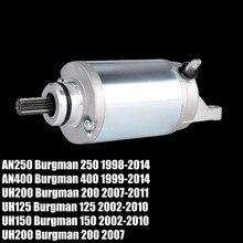 Motor de arranque para Suzuki Burgman 250 AN400 AN250 Burgman 400 1999-2014 UM UH125 UH150 UH200 Burgman 125 150