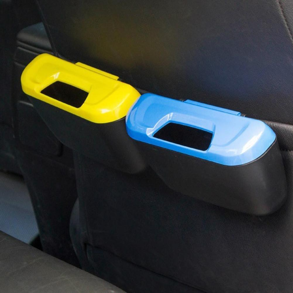 Garbage Bin Universal Travel Auto Car Trash Can Bin Bag Rubbish Garbage Holder Tool Mini Netss Stowing Portable Car Dustbin