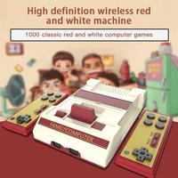 2.4G Console di gioco Wireless FC famiglia Video nostalgico classico rosso e bianco macchina doppie maniglie costruito con 1000 giochi 2 Gamepad