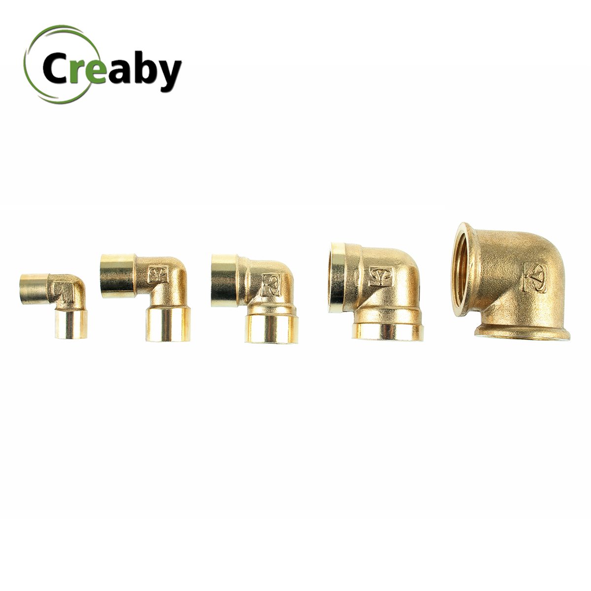 "BSP Female X Female Thread 1/8"" 1/4"" 3/8"" 1/2"" 3/4"" 90 Degree Elbow Brass Pipe Fitting Copper Connector Coupler For Water Air"