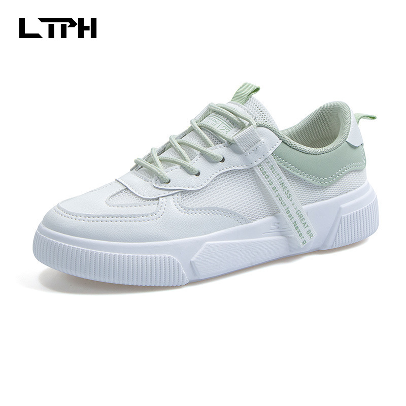 2020 Spring New White Shoes Women Casual Wild Shoes Women Mesh  Breathable Thick Bottom Comfortable Board Shoes Women Sneakers