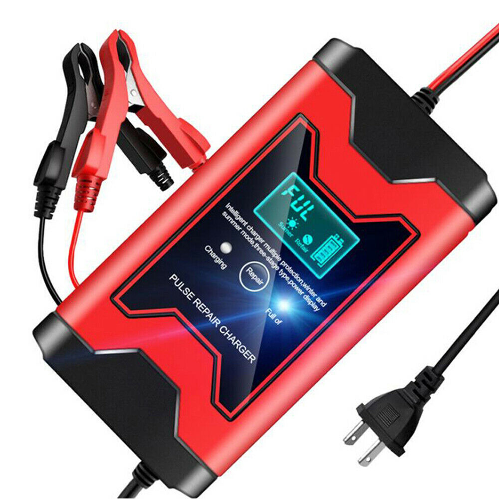 12V 6A Full Automatic Car Battery Charger Smart Power Pulse Repair Chargers