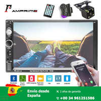 AMPrime 7'' Car Radio HD touch screen Support Android Iphone Mirror Link Bluetooth FM AUX USB SD 2 din Car MP5 player