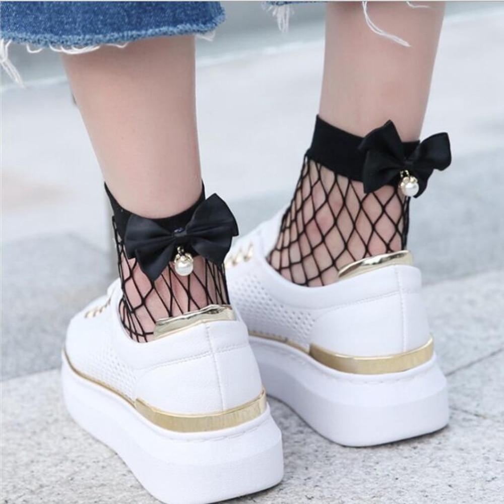 1 Pair Of Ladies Fishnet Socks Short Section Spring And Summer Short Tube Thin Section Girl Net Sock Breathable Trend Mesh Socks