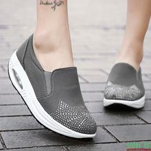 Кроссовки женские на платформе спортивная обувь танкетке с круглым
