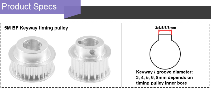 5M BF Keyway pulley info