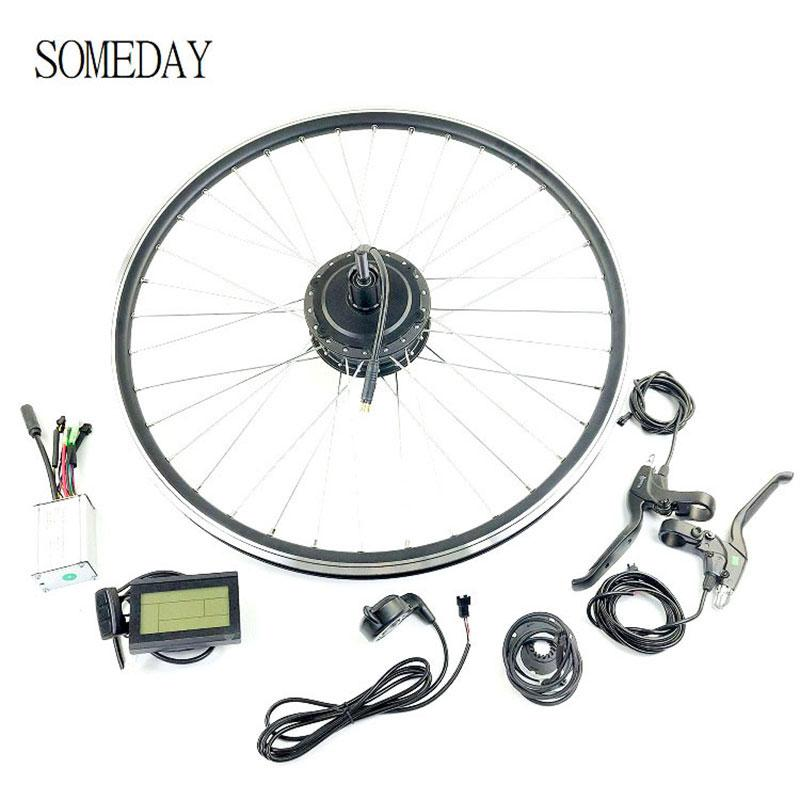 SOMEDAY <font><b>36V</b></font> 250W Electric Bicycle Conversion kit Rear Cassette hub <font><b>Motor</b></font> with KT LCD3 for 16-28inch 700C wheel image