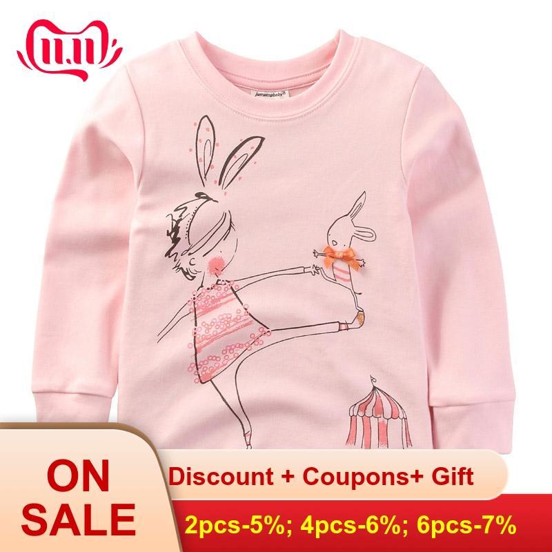 2019 meninas t camisa do bebê roupas da menina crianças manga longa t-shirts de algodão camiseta