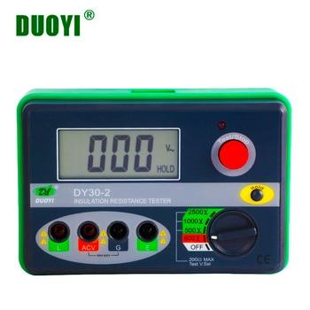 DUOYI DY30-2 Digital Insulation Resistance Tester 20G Ohm 500V 1000V 2500V Earth Ground Resistance Meter Megohmmeter Voltmeter