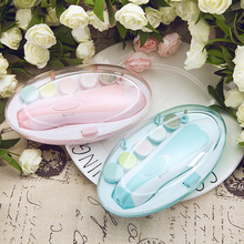 Manicure-Set Nail-Clipper Baby-Care-Kit Baby-Blue-Powder Electric Newborns 6-Piece