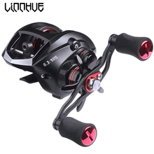 LINNHUE 12+1BB Fishing Reel All Metal Spool Spinning Magnetic brake 8KG Max Drag Seamless Saltwater Accessory
