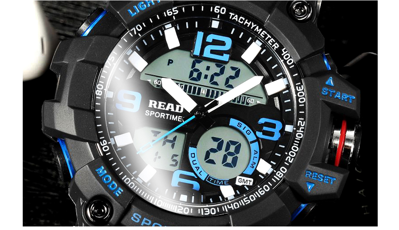 H36edcafe441c4026a181363bdf25247eS - READ Sport Watches for Men Waterproof Digital Watch LED Large Dail Luminous Clock Montre Homme Military Big Men Watches