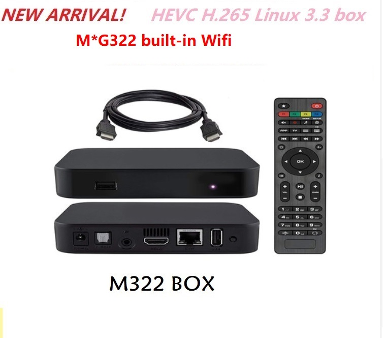 Iptv-Box Xxx Linux3.3 322 W1 MG Top Built-In-Wifi-Set Open-Gles2.0 Newest-Product H.265