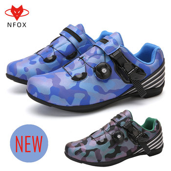 NFOX Men's and Women's Amphibious Shoes Mountain Bike Single Lockless Shoes Adult Riding Shoes Non-slip Cross-country DC-S8083