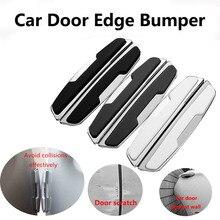 цена на 4x Car Carbon Fiber Anti-rub Strip Bumper Body Corner Protector Guard Door Decor Car door crash stickers Door  Anti-collision