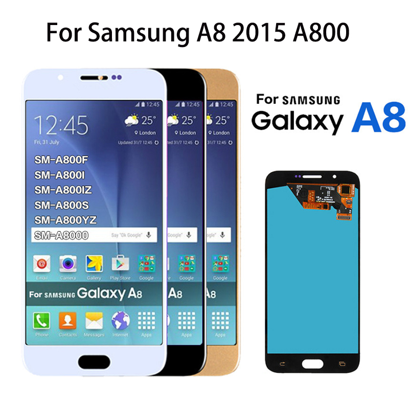 For <font><b>Samsung</b></font> <font><b>Galaxy</b></font> <font><b>A8</b></font> A800 A8000 A800F Phone <font><b>LCD</b></font> <font><b>Display</b></font> <font><b>Touch</b></font> Digitizer <font><b>Screen</b></font> Assembly 100% Tested Replacement High Quality image