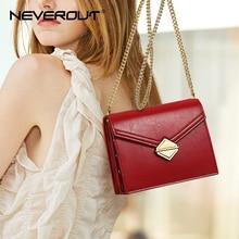 NEVEROUT Small Flap Bag Split Leather Crossbody Bags Womens Messenger Evening Chain Luxury Shoulder Sac Main Femme