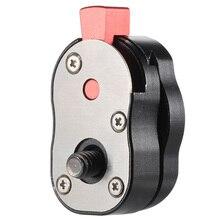 """알루미늄 스틸 미니 퀵 릴리스 플레이트 카메라 캠코더 조작 lcd 모니터 매직 암 led 라이트 1/4 """"스크류 마운트 렌치"""
