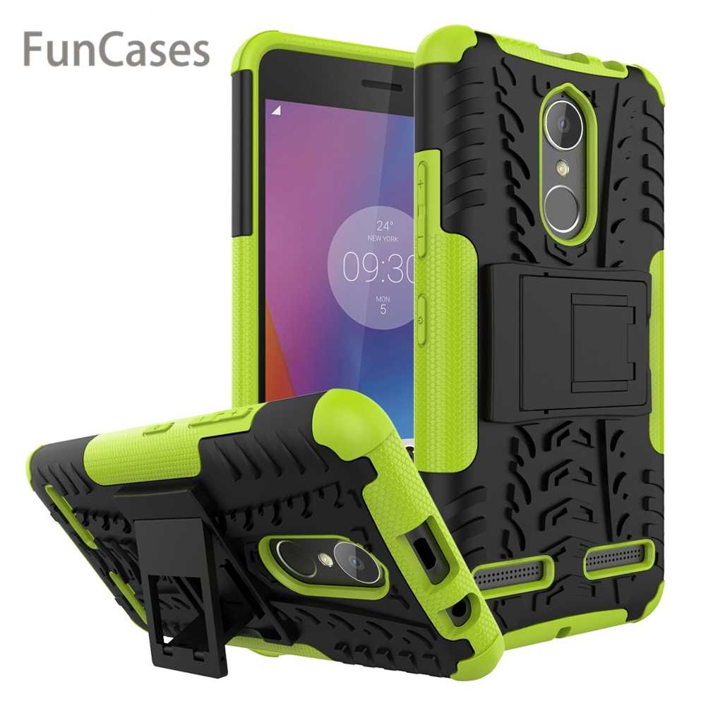 For Lenovo K6 K 6 Power K33a42 K33 A48 K33a48 Case 5.0 inch Hybrid PC + TPU Silicone Hard Plastic Armor Stand Phone Holder Cover