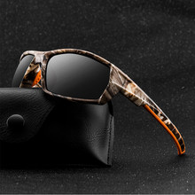 2020 óculos de sol Dos Homens Camuflagem Esportes Homens Polarizados Quadrado Armação Grossa Ao Ar Livre High-end Óculos De Sol Para Homens