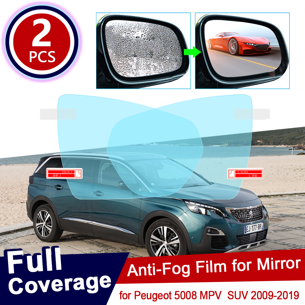 for <font><b>Peugeot</b></font> <font><b>5008</b></font> MK1 MPV MK2 SUV 2009~2019 Full Cover Anti Fog Film Rearview Mirror Accessories <font><b>2010</b></font> 2011 2012 2013 2017 2018 image