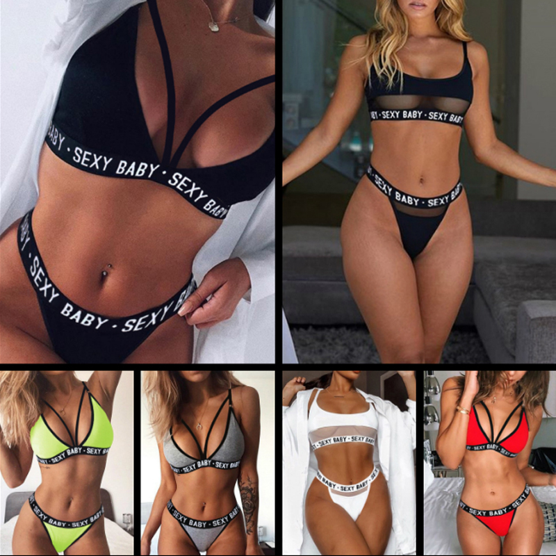 Women Sexy Lingerie Open Bra Panties Set Transparent Lace Underwear Female Lingerie Sexy Hot Erotic Costumes S-3XL Plus Size