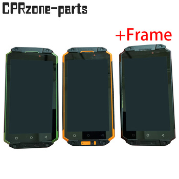 """5.5"""" Black / Yellow / Green with frame For Poptel P9000 Max lcd display with touch screen digitizer sensor panel assembly"""