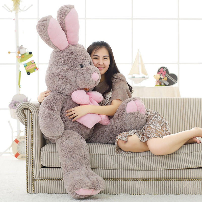 Hot Selling 100cm American Big Rabbit Plush Doll Soft Appease Toys For Valentine's Day Gifts LBV