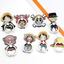 Mobile phone bracket Ring buckle cartoon One Piece mobile metal lazy cell ring finger for iphon