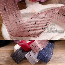 10/100yards 25mm 38mm hollow out stitched mesh organza sheer ribbon for hair bow diy accessories bouquet packing