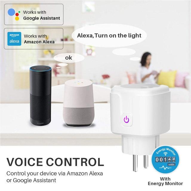 Smart Plug WiFi Socket EU 16A Power Monitor Timing Function Tuya SmartLife APP Control Works With Alexa Google Assistant 3