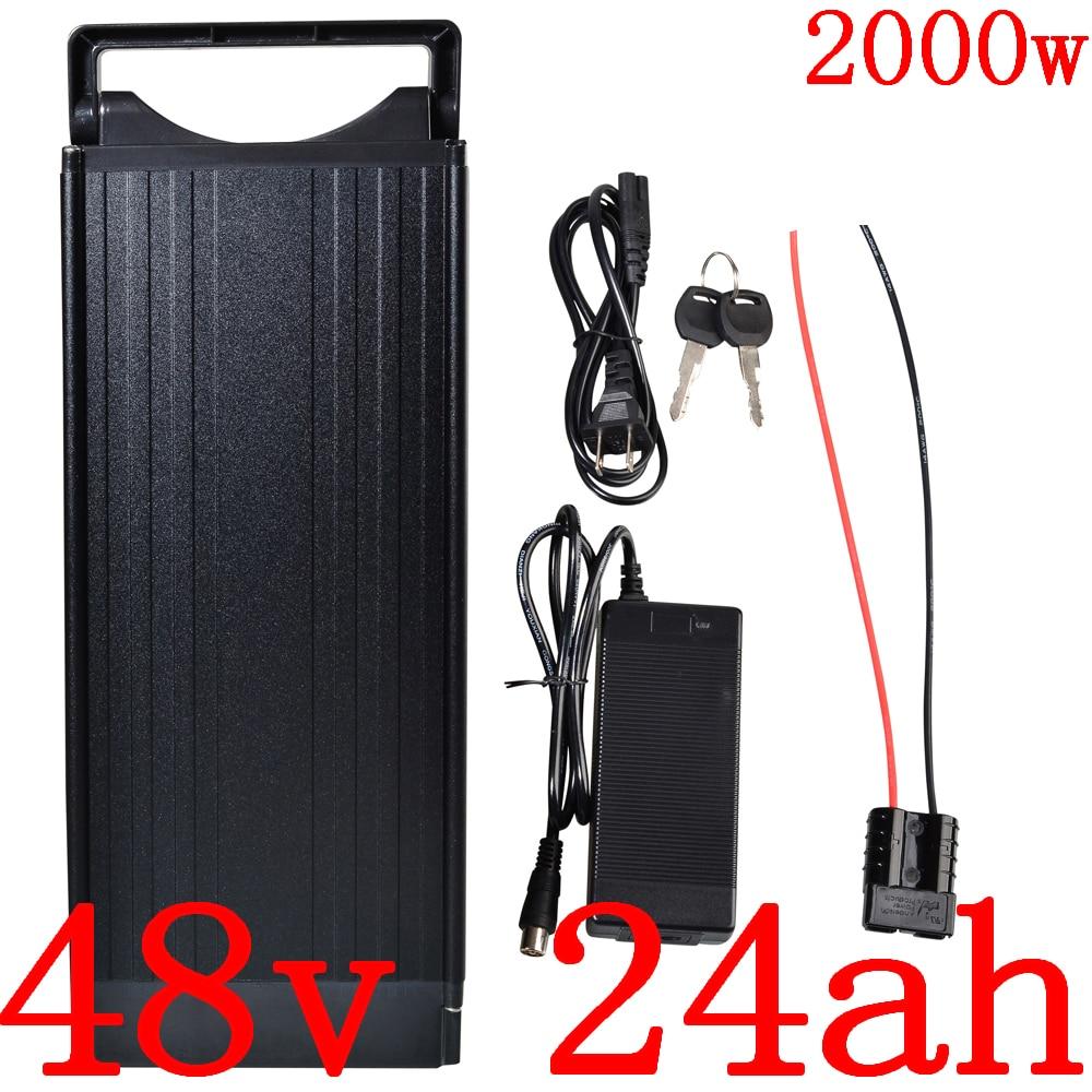 24v 36v 48v 10Ah 13Ah 15Ah 18Ah Silverfish Ebike Battery Li-ion Lockable Charger