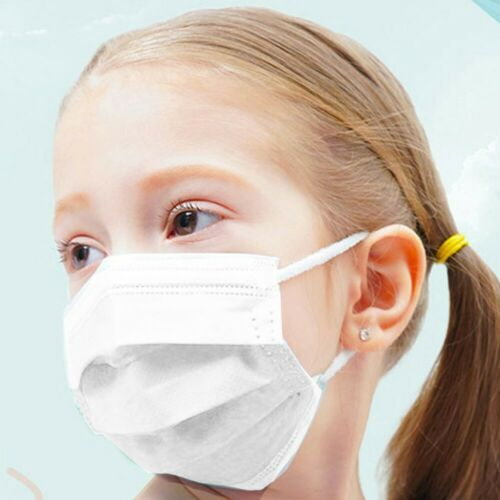 10pcs Children 3-Ply Disposable White Face Masks  Anti Dust Mouth Masks 3 Layers Anti-Flu Kids Boys Girls Ear Loop 3