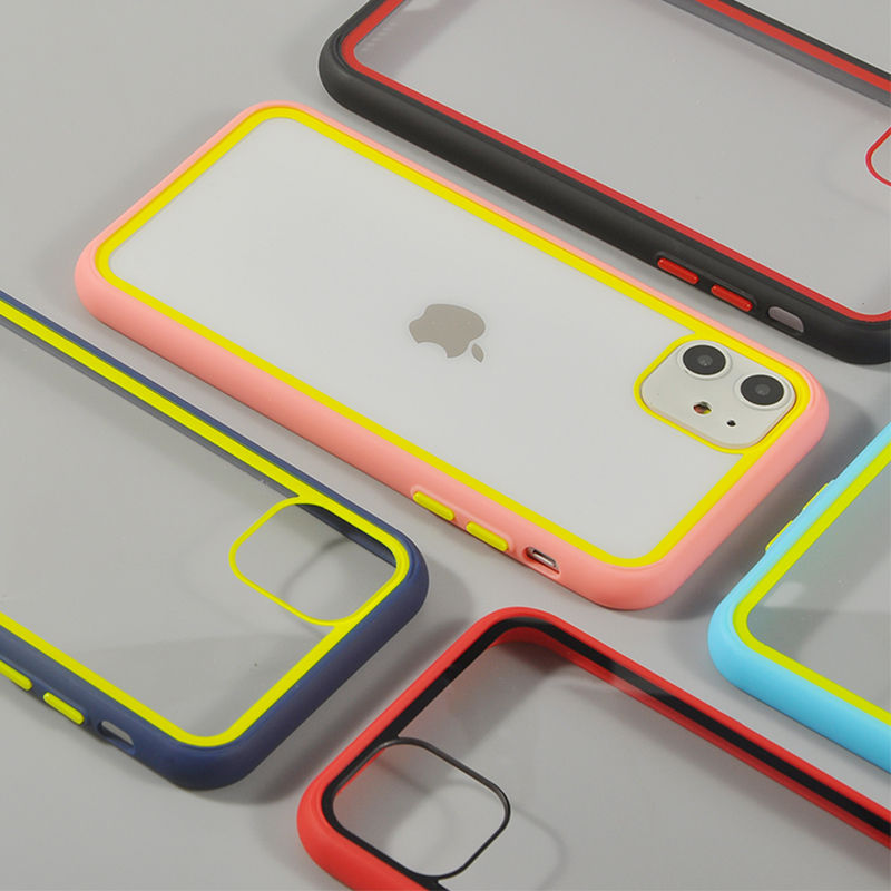 Transparent Bumper Shockproof Phone Case For IPhone 11 11 Pro Max XR XS Max X 8 7 Plus Soft Silicone Clear Case For IPhone 11Pro